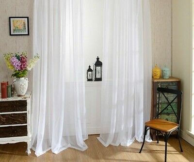 £8.52 • Buy White Yarn Curtain Window Tulle For Living Room Kitchen Modern Treatments Voile