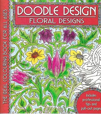 Doodle Design - Floral Designs - Colouring Book  *FREE P&P* • 2.99£