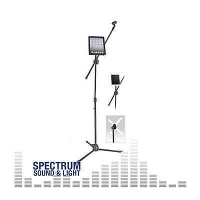 NJS - Microphone Boom Arm Stand Inc. Tablet Holder [NJS067E] Microphone Stands • 24.95£