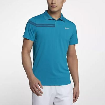 6b089627 Men's Clothing Activewear NIKE NIKECOURT X ROGER FEDERER RF KNIT POLO TOP  886470-443 BLUE SIZE ...