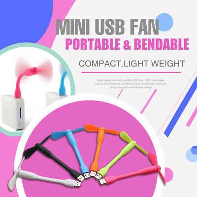 AU3.99 • Buy Bendable And Flexible Mini USB Fan Portable Flexible Cooling For Power Bank Comp