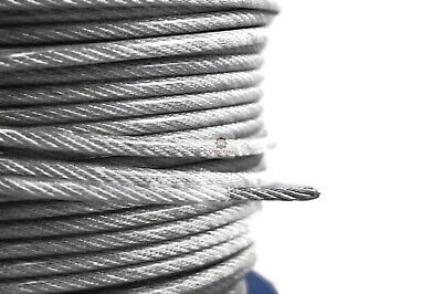 £0.99 • Buy Steel Wire Rope Metal Cable Rigging Clear PVC Coated 2mm 3mm 4mm 5mm 6mm 8mm