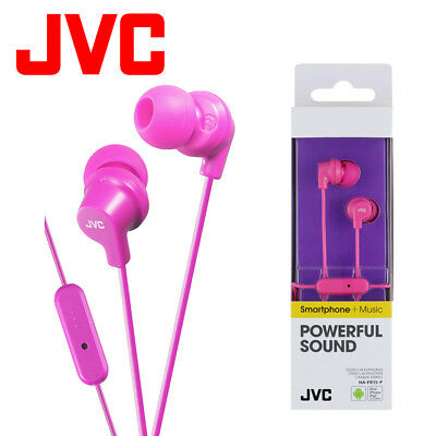 JVC HA-FR15-P Pink Gumy Stereo Bass Headphone Earphones For IPod IPhone Android • 6.49£