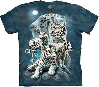 £24.99 • Buy The Mountain Unisex Adult Night Tiger Collage Animal T Shirt
