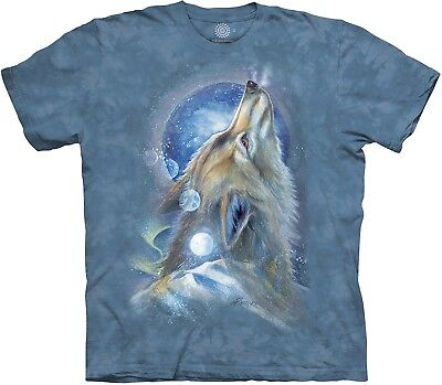 £24.99 • Buy The Mountain Unisex Adult Wolf Howl Animal T Shirt