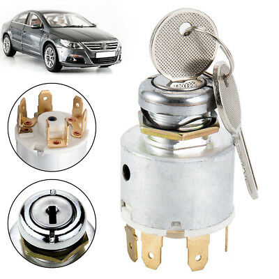 12V Universal Ignition Switch With 2 Keys 4 Positions Fit For Car MotorCycle Boa • 10.04£