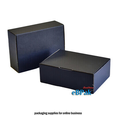 AU94.50 • Buy 100x Mailing Box Black Colour  310x220x102mm A4 B2 BX2 Shipping Carton Gift Box