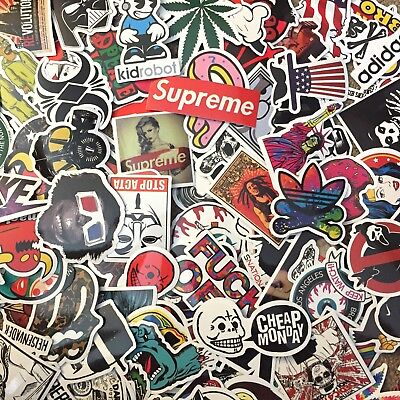$ CDN12.35 • Buy Choose Your Set! Vinyl Laptop Skateboard STICKERS Supreme Variety Pack