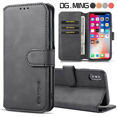 $ CDN6.56 • Buy Luxury Leather Wallet Case Cover Card Slots Flip Stand For IPhone Samsung Huawei