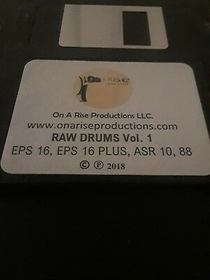 $29.95 • Buy Ensoniq ASR 10, ASR 88, EPS 16, EPS 16 PLUS:  Drum Sound Kit  Titled  Raw Drums