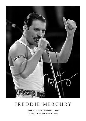 £3.99 • Buy Freddie Mercury Tribute Poster - Signed (copy) # 33  A4 (210mm X 297mm)