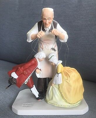 $ CDN157.36 • Buy Puppet Maker Figurine, Norman Rockwell, Gorham 1985, Colonial Style Marionette