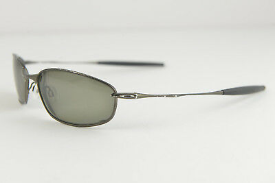 bf540066ca SCRATCHED AND WORN Oakley Whisker Pewter Black Iridium Sunglasses • 58.00