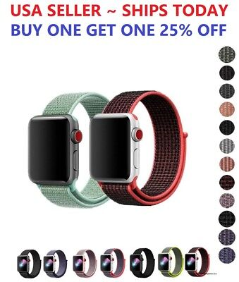 AU7.10 • Buy Woven Nylon Band For Apple Watch Sport Loop Series 6/5/4/3/2/1/SE 38/42/40/44mm