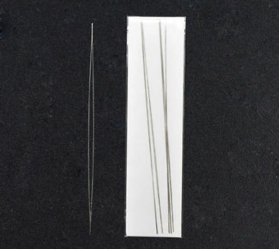 £1.95 • Buy Big Eye Curved Beading Needles Easy Thread 125mm 100mm 75mm  FREE UK DELIVERY