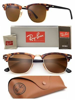 64d06ff65c9 Ray-Ban Clubmaster Sunglasses RB3016 1160 Brown Lens 51mm Tortoise   Gold  Frame • 67.99