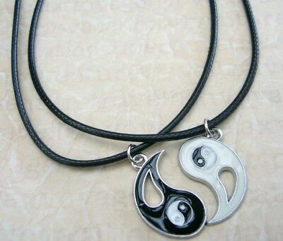 AU8.99 • Buy NEW BEST FRIEND His And Hers Ying Yang  Pendants 2 Necklace Set BFF Friendship