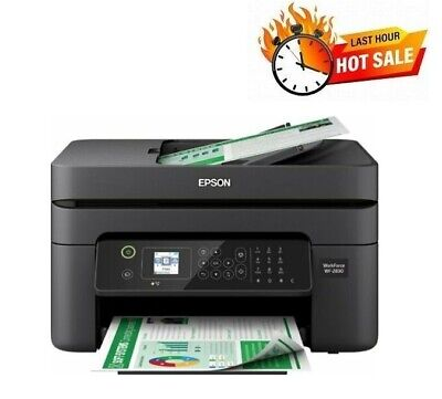 View Details Epson Printer WF-2830 Fax Machine Scan Copy All-In-One Wireless Office With Ink • 99.98$