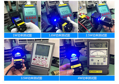 AU109.16 • Buy 450nm 1W 1.6W 2.5W 4W 12V PWM/TTL Adjustable Focus Blue Laser Module Engraver