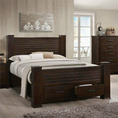 $604.54 • Buy ACME Panang Queen Bed With Storage In Mahogany