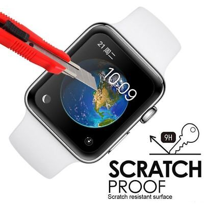 $ CDN8.31 • Buy 1/2 Pack For Apple Watch Series 1 2 3 4 Curved Tempered Glass FULL COVER Screen