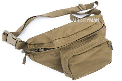 $24.75 • Buy TAG Military Compact Fanny Butt Waist Pack ERB Bag Coyote - 3 Pockets - USA Made