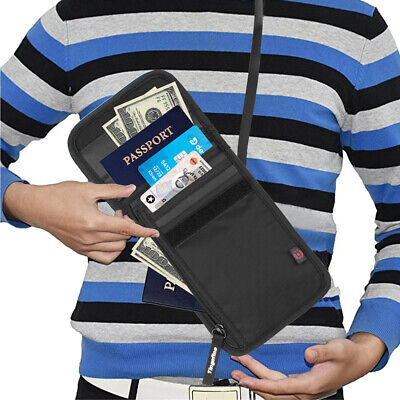 AU16.14 • Buy Travel Passport Neck Bag RFID ID Holder Phone Wallet Pouch For Men And Women