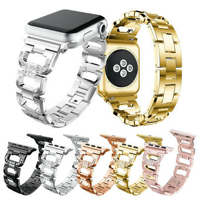 $ CDN16.01 • Buy Lady Bling Steel Watch Band Strap For Apple Watch Series 1 2 3 4 38/42/40/44mm
