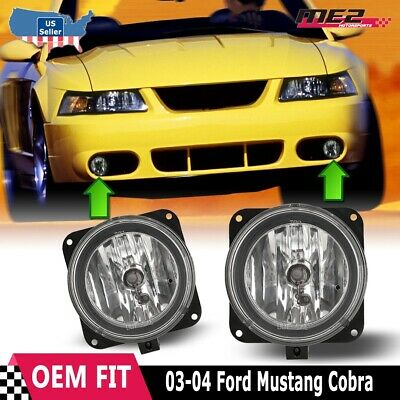 $28.87 • Buy For Ford Mustang 03-04 Bumper Driving Fog Lights Lamps Replacement Pair Clear