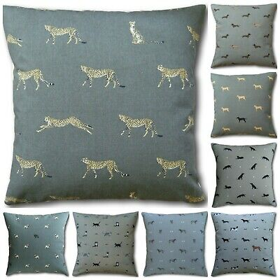 Cats & Dogs Cushion Covers Made In Sophie Allport Fabrics 16  Pugs Labradors Etc • 9.95£