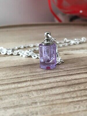 Lilac Glass Vial Necklace