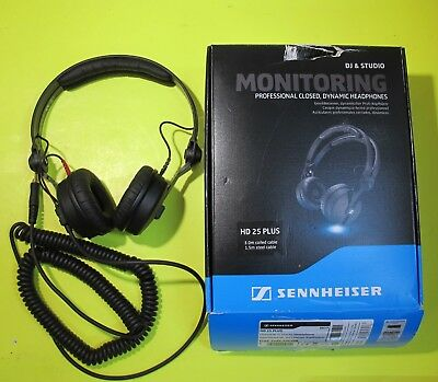 Sennheiser HD 25 Plus Professional DJ Headphone With Coiled & Straight Cable • 123.81£