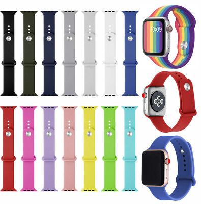 $ CDN6.95 • Buy Silicone Band Strap For Apple IWatch 38/42mm 40/44mm Series 1 2 3 4 5 6 SE