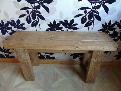 Handmade Wooden Bench- Many Colours.Indoors-Outdoors/Garden/Kitchen/Dining • 63.99£