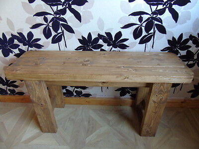 Handmade Wooden Bench- Many Colours.Indoors-Outdoors/Garden/Kitchen/Dining • 60.99£