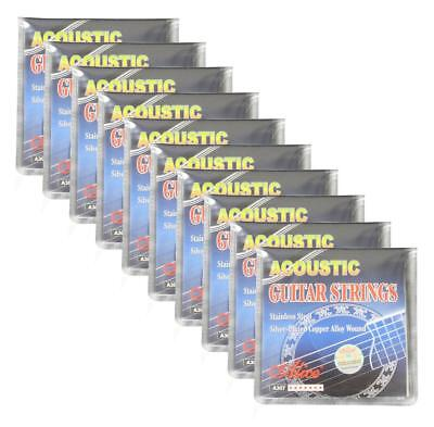 $ CDN41.80 • Buy 10Sets Alice Acoustic Guitar Strings Silver Plated Copper Alloy Wound A307-SL