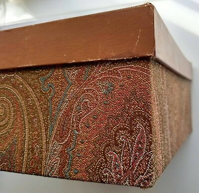 $200 • Buy ETRO - Milan Italy Paisley Fabric Covered Box 12 X 12 X 4 1/2