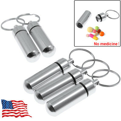Set Of 5PCS Water-proof Pill Case Box Pill Holder With Keychain US Free Shipping • 5.75$
