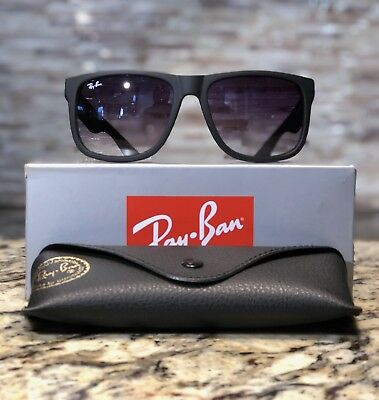 fce8342af5 Ray-Ban Justin Sunglasses RB4165 601 8G 54mm Matte Black Grey Gradient Lens