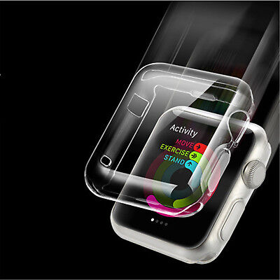 $ CDN2.61 • Buy For Apple Watch Series 2/3/4 Case Screen Protector PC Clear Full Cover