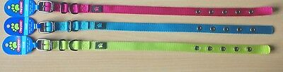 £2.99 • Buy High Quality Bright Colourful Soft Nylon Puppy & Dog Collars Small 12  14  16