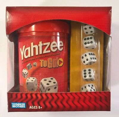 AU24.08 • Buy Yahtzee To Go Shake Score & Shout Dice Game Parker Brothers Travel Hasbro New