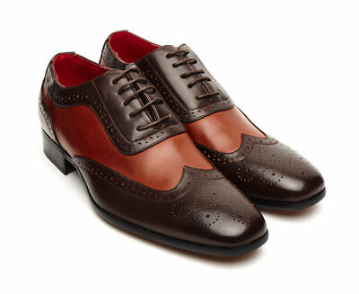 Mens Spectator Two Tone 1940's Italian Vintage Brogue, Gangster Shoe, Oxford Fab • 29.99£