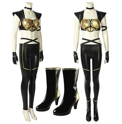 $ CDN152.52 • Buy LOL League Of Legends KDA Kaisa Leather Punk Uniform Cosplay Costume With Boots