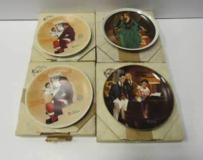 $ CDN233.34 • Buy 32 Norman Rockwell Edwin Knowles Collector Plates In Box COA Bundle