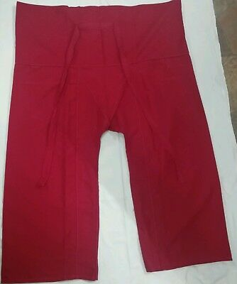 AU12 • Buy Fisherman Yoga Meditation Massage Maternity Pants Long Red Polyester.