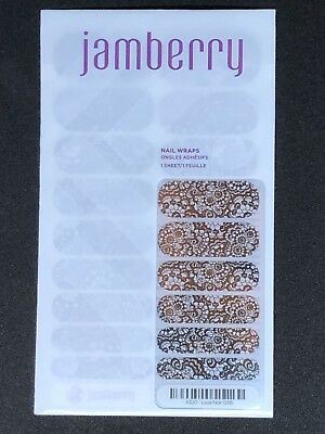 AU15 • Buy Lace Noir - Jamberry Nail Wraps Full Sheet
