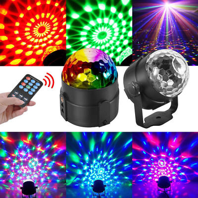 Party Disco Lights Strobe LED Rotating DJ Ball Sound Activated Dance Bulb Lamp • 11.98$