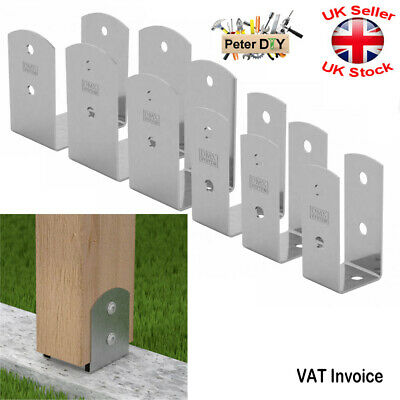 Galvanised Bolt Down BASE POST SUPPORT Fence Foot Base Brackets 45-101 Mm • 6.89£