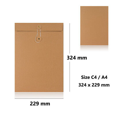 Strong Manilla String & Washer Bottom Tie Envelopes C4 Size F&F Delivery • 468.09£
